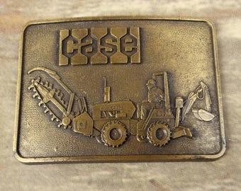 Case Tractor Belt Buckle Backhoe Trencher Vintage Construction Equipment Farmer