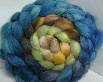 BFL/Cashmere/Tussah 50/25/25 Roving Combed Top - 5oz - Storm Dust to Clouds 2