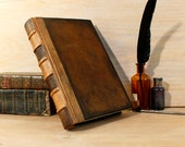 Vintage leather journal, Brown leather - Time Capsule