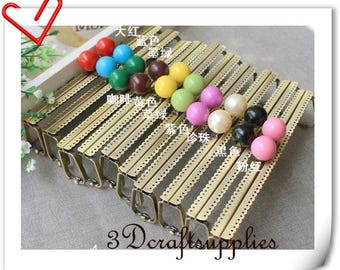 15cm colorful bobble barrel purse frame supply