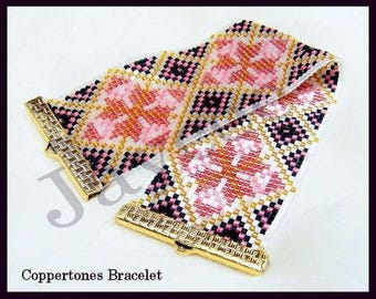 Bead Pattern - Coppertones bracelet - Loom stitch