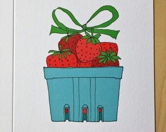 Strawberry Birthday Card - a very berry birthday