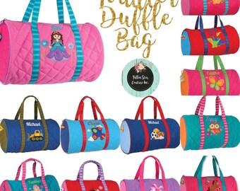 Stephen joseph duffle bag  , toddler duffle bag  , preschool duffle bag , personalized duffle bag , kids travel bag , kids camp bag