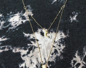 Aragonite and Crescent Moon Necklace