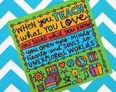 Teach What You Love (Pocket Print)