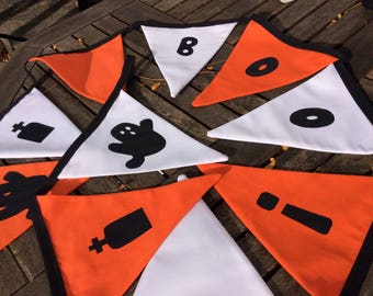 Halloween bunting, Boo and Ghost Garland, Trick or Treat Bunting,