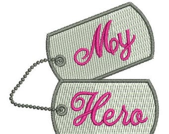 SALE 65% OFF Military Hero Dog Tags Machine Embroidery Designs 4x4 Instant Download Sale