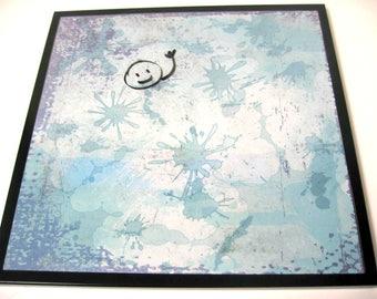 Inkspot ..Magnet Dry Erase Steel Memo Board / Housewarming Gift / Office Decor / Organization / Desk / Message / Coworker Gift / Wall Decor