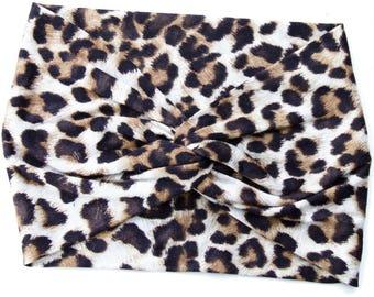 Leopard Headband Women Cheetah Print Turban Animal Print Turban Gift For Her Adult Headband Women's Headband Animal Hair Accessory Turban