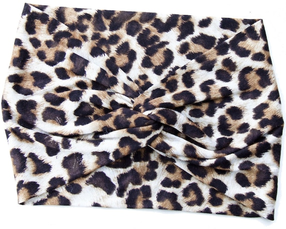Leopard Headband Women Cheetah Print Turban Animal Print Turban Gift For Her Adult Headband Women's Headband Animal Hair Accessory Turban