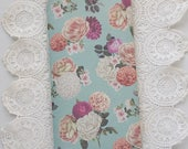 Mint Roses Traveler's Notebook with Pockets Insert