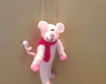 Whimsical 3 inch felted Mouse - NEW for 2017