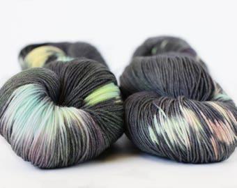 Magic (concrete) 463 yards on 'Posh' Sock Yarn/ 4 ply merino, hand painted sprinkle