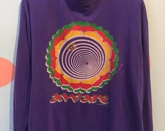 90s AWARE Gotcha International Purple Long Sleeve Tee
