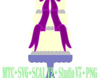 Wedding Cake #03 Cut Files MTC SVG SCAL Format and more traceable