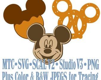 Amusement Park Embellishment Mouse Treats #01 Digital ScAL MTC SvG Cut Files JPEG PNG