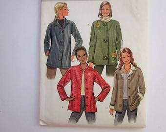 Butterick Sewing Pattern B4353, Misses Loose Fitting Jacket, Size Z -  L, XL Uncut 2004