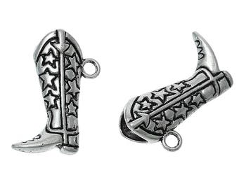 Western Boot Charm - 3D style - Set of 4 - #HK1441