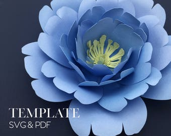 Ruffled Posey TEMPLATE SVG & PDF (Digital file only)