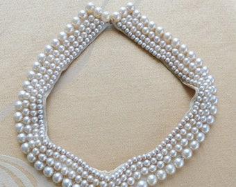 On sale Pretty Vintage Faux Pearl Edwardian Collar