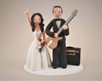 Guitarist & Singer Customized Wedding Wedding Cake Topper