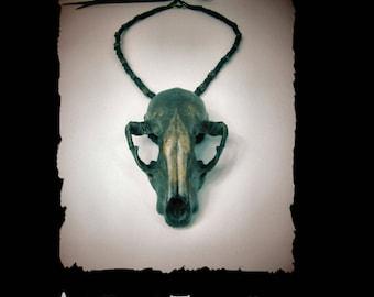 Raccoon Skull Necklace