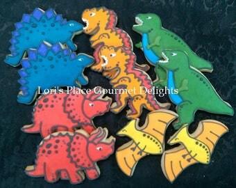 Dinosaurs Cookies - 10 Cookies