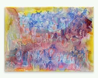 "Solar Eclipse - original 9"" x 12"" painting on canvas"