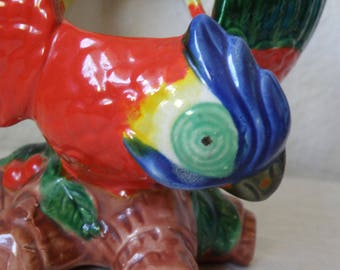 Colorful PARROT Planter or Vase