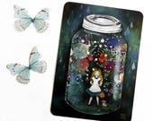 Alice in a Jar (Alice in Wonderland) - Postcard
