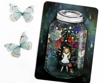 Alice in a Jar (Alice in Wonderland) - Postcard