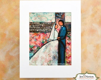 Holy Matrimony bible verse, Wedding Gift, Christ in Marriage, Ecclesiastes 4:12 Art Print