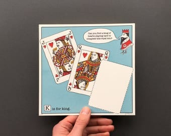 K is for King - Original Artwork from An A to Z Treasure Hunt