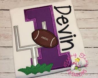 Football Birthday Party Shirt ~ Purple ~ Louisiana football ~ Sports Birthday Party Shirt ~ 1st Birthday Party Shirt ~ Boys Birthday Shirt ~