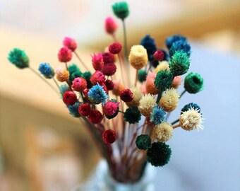 Save25% Happy flowers-45+ Dried Mini Wedding flowers-pink-purple-yellow-green small flowers