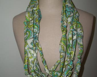 Fabric Necklace ~ Multistrand Loop Scarf ~ Amy Butler Scarf