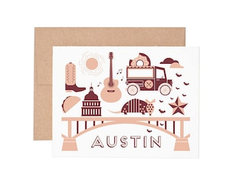 Boxed Cards - Austin Letterpress Greeting Cards - Boxed Set | Blank Cards | All Occassion
