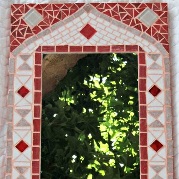 Miroir mosa que beige ocre esprit marocain for Miroir marocain