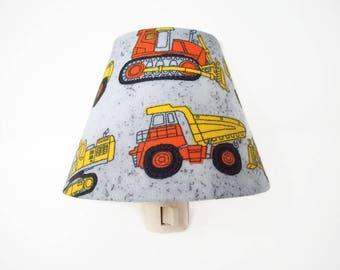 Construction Truck Night Light - Boys Nursery Decor - Kids Night Light - Trucks Wall Light - Boys Bedroom Night Light - Boys Nursery Decor