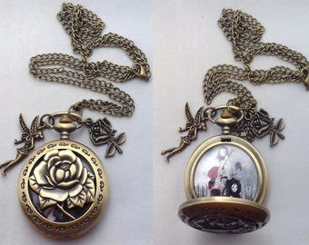 Upcycled Pocket Watch | Necklace | Wearable Art  | Fairy Necklace | You've Moved On