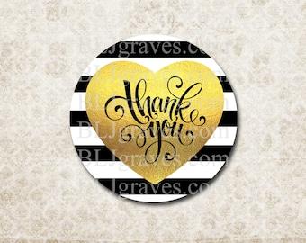 Thank You Sticker Wedding Sticker Baby Shower Birthday Sticker Heart Sticker Treat Bag Party Favor Sticker SP100