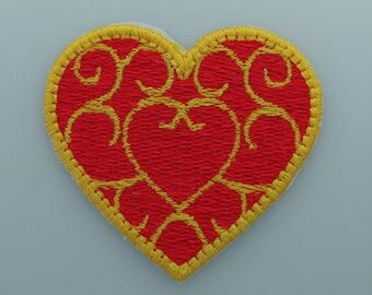 Zelda Heart Container Iron-On Patch