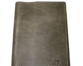 15% OFF Rustic Brown Leather Passport Cover For Men & Women - Accessories
