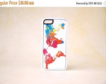 ON SALE Colorful World Map Silicone Phone case iPhone 6 Case, iPhone 6 Plus, 6+ Case, iPhone 5 Case, Samsung Galaxy S5 Case, World Map Phone
