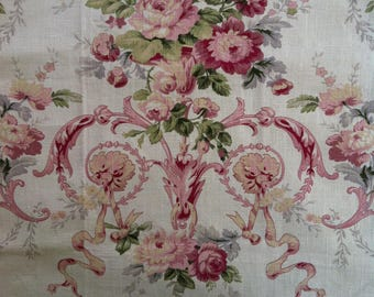 """18"""" Cotton and Linen Floral Pillow Cover by Barneche/Stephanie Barnes"""
