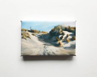 sand dunes at the beach, mini canvas art print