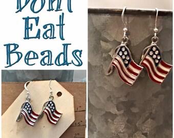 America Flag Earrings #17june774