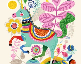 Unicorn Dream... - limited edition giclee print of an original illustration (8 x 10 in)