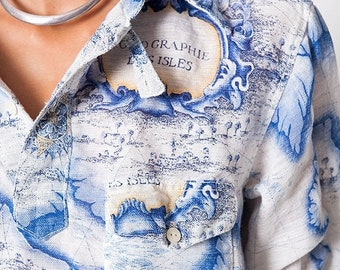 40% OFF The Vintage Nautical Sailor Inspired Linen Tunic