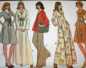 """Vintage 1970s Sewing Pattern, McCall's 4598, Misses' Dress or Top, Misses' Size 12, Bust 34"""""""